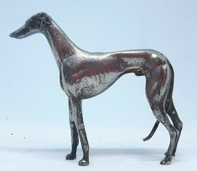 Antique Silver Plated Greyhound