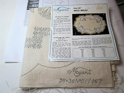 "Myart Vintage Linen – Supper Cloth – ''Shasta Brocade""   New"