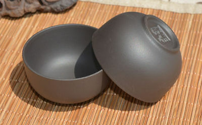 2 Pcs Black YiXing Zisha Clay Hand bowl Tea Cups