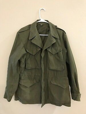 Vintage WW2 US Army M1943 Field Jacket with Hood, Size 36 R M43 WWII excellent