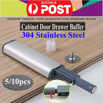 5/10x Magnetic Cabinet Latch Door Drawer Push To Open System Damper Buffer Catch