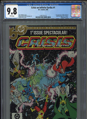 1985 Crisis In Infinite Earths 1St Appearance Blue Beetle In Dc Cgc 9.8 White