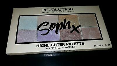 Makeup revolution soph x highlighter highlighting  palette brand new release