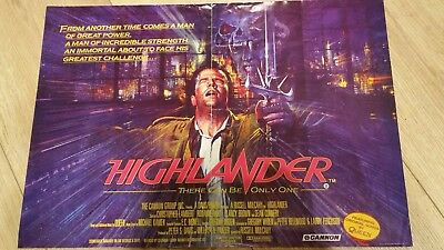 Highlander mini quad poster original film poster sean connery 80's poster