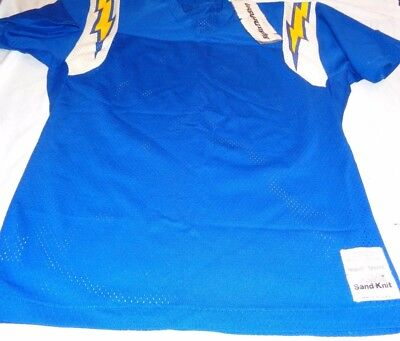 San Diego Chargers Medalist Sand Knit Pro Action Football Jersey Medium  Blank 97a0b91cd