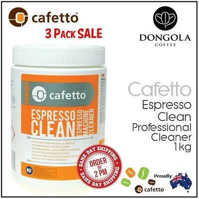 3PK CAFETTO 1KG ESPRESSO CLEAN Coffee Machine Cleaner Professional Use Cleaning