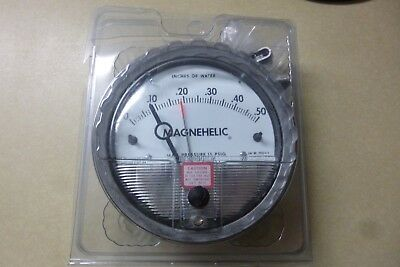 Dwyer Magnehelic Diff Pressure Gauge 2000-0-ASF W17T 0 to +.50 in. in water NOS