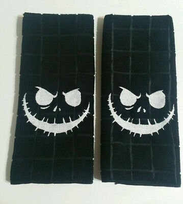 Embroidered Jack Hand Towel Set - Kitchen / Bathroom Nightmare Before Christmas