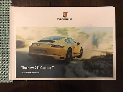 2018 Porsche 911 Carrera T Hard Cover limited edition brochure from LA Auto Show