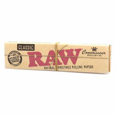 RAW CLASSIC CONNOISSEUR King Size Slim [ Papers + Tips ] | Rolling Papers RYO