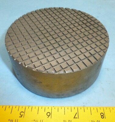 """Lapping Plate Small 4-1/4"""" Diameter Cast Iron"""
