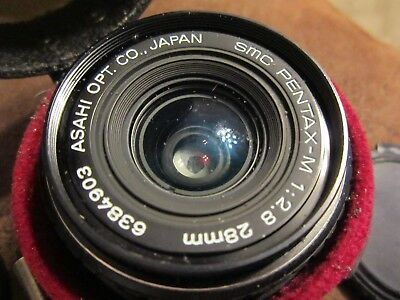Vintage Pentax-M Camera Lens w/ Case Asahi Optical Japan~~28MM SMC 1: 2.8