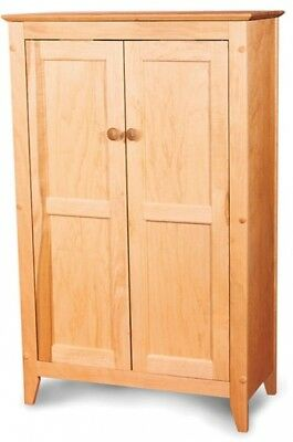 Double-door Cabinet With Flat Panel Wooden Doors