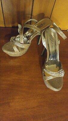 silver glitter shoes size 10
