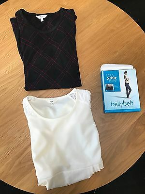 Ripe Maternity Bundle, including dress, top and belly bands - size small