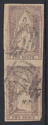 Victoria  Queen on the Throne  used pair letters O-T and Z-C  Positions 39 & 49