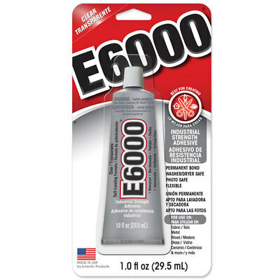 E6000 Industrial Strength Glue Craft Adhesive 1oz / 29.5ml Tube