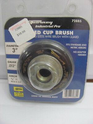 Forney 72885 Wire Cup Brush Industrial Pro Crimped With Safety Guard 5/8-Inch-11
