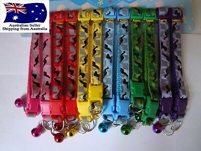 CAMOUFLAGE COLLAR CAT Pet Camo Nylon  - Purple, Red, Blue, Pink, Yellow & Green