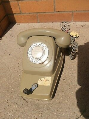 Vintage Rotary Dial / Crank Combination Telephone(Used for Rural Party Line QLD)