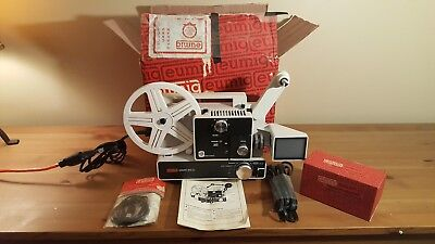 Eumig Mark 610D Projector w/Daylight viewer, Sync Cable Original Packaging 1975