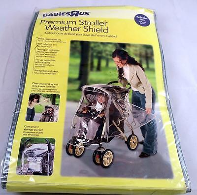 Babies R Us Clear View Premium Stroller Weather Shield Reflective Trim NEW