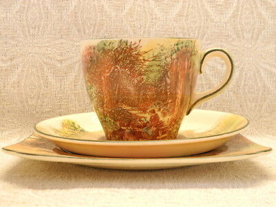 Royal Doulton Rustic England Cup, Saucer and Plate