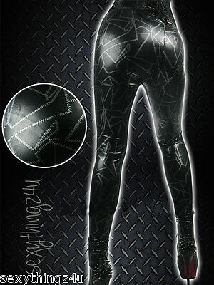 ROCK CHIC GOTH PUNK RAVE Pure Black LEGGINGS - Size Fits Small 6-8
