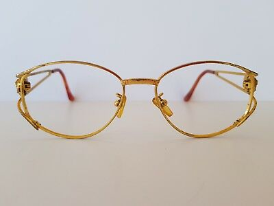 Rare Vintage Gianni Versace Mod G99.s  Col 030 Gold Metal Sunglasses Frame Only