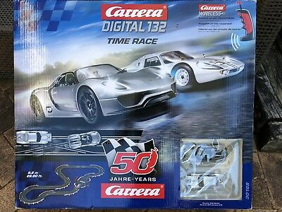 """Carrera Digital Slot Car Set 132 """"Time Race"""" - Used In Very Good Condition"""