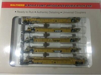 n scale walthers double stack well cars