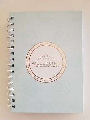 2018 WELLBEING INSPIRATIONS DIARY JOURNAL, HARD COVER SPIRAL WEEK-VIEW 15cmx21cm