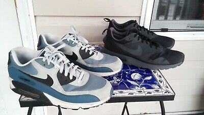Lot of 2 Pairs of Nike Air Max Athletic Running Shoes Mens Sz 13 - Fast Ship -