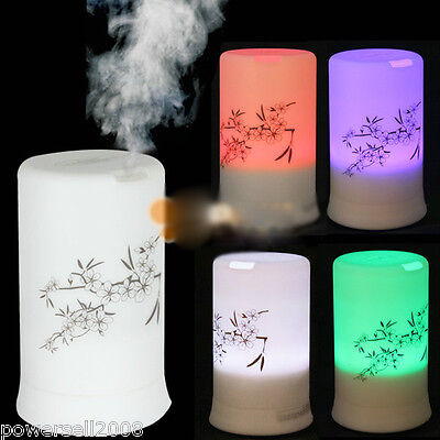 100ML 4LED Colors Ultrasonic Mini White Air Humidifier Mist Maker Aroma Atomizer