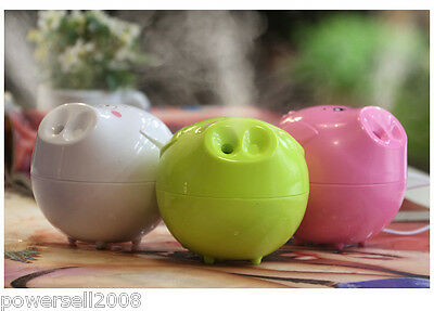 New Mini USB Humidifier Ultrasonic Light Green Air Humidifier Anion Diffuser
