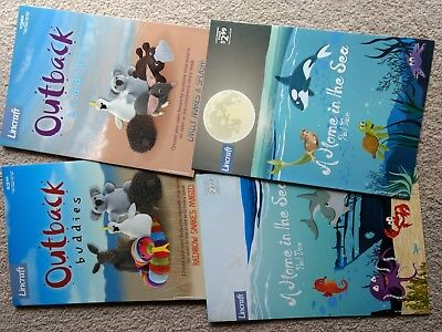 Lincraft Outback buddies patterns x 4