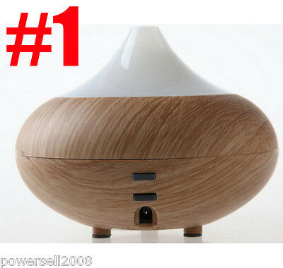 New Ultrasonic Ion Humidifier Light Wood Grain Aroma Air Aromatherapy Diffuser