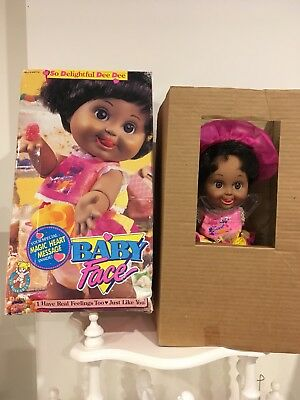 Galoob Baby Face Doll - AA So Delightful DeeDee - Complete Outfit And Box