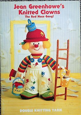 Jean Greenhowe Knitting Pattern Book-Knitted Clowns-Red Nose Gang