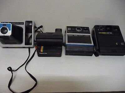 Collection of Vintage Instant Kodak and Polaroid Cameras