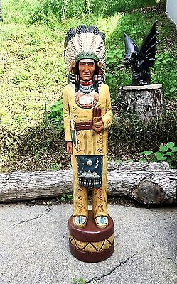 John Gallagher Carved Wooden Cigar Store Indian 6 ft. in beautiful fine details