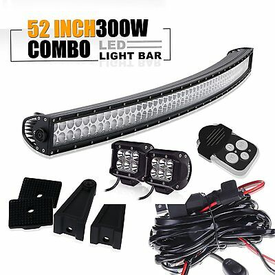 Polaris Ranger 570/900/1000 fullsize 52'' CURVED LED light bar bracket pods cube