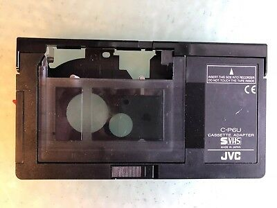 JVC C-P6U SVHS Cassette Adapter For VHSC Compact VHS Tapes Play In Video Player