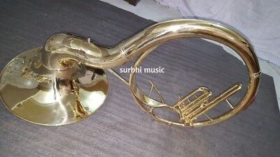 """Sousaphone 16"""" Inch Bell of Brass in Gold Lacquer Polish With Free MouthPc &Case"""