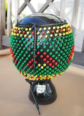 Pearl Shekere percussion shaker in pristine condition with adjustable beading