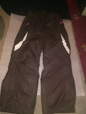 CRANE  brand SKI WINTER TROUSERS brown GIRL  7 YEARS - VGC