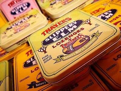 26 Empty Collectible Tins - Thayers Slippery Elm Lozenges