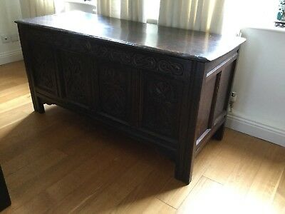 16th 17th Century Oak Coffer