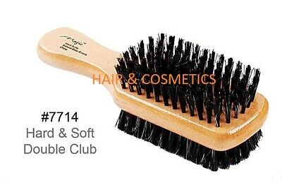 Hard & Soft Double Side Brush Boar & Plastic Bristles By Magic Collection !!