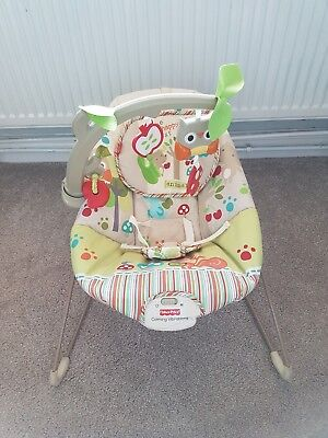 Fisher Price Calming Vibrations Woodsy Friends Comfy Time Bouncer Bouncy Chair